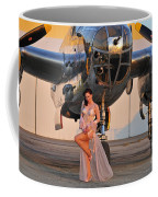 Sexy 1940s Pin-up Girl In Lingerie Coffee Mug