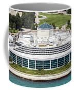 Shedd Aquarium In Chicago Aerial Photo Coffee Mug