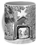 Shimanek Covered Bridge -surreal Bw Coffee Mug