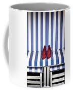 Shoes In A Beach Chair Coffee Mug by Joana Kruse
