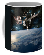 Shuttle Docked At Space Station Coffee Mug