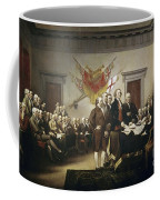 Signing The Declaration Of Independence Coffee Mug by John Trumbull