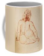 Sitting Fat Nude Woman Coffee Mug