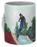 skate park day, Skateboarder Boy In Skate Park, Scooter Boy, In, Skate Park Coffee Mug