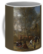 Skittle Players Outside An Inn Coffee Mug