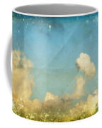 Sky And Cloud On Old Grunge Paper Coffee Mug by Setsiri Silapasuwanchai