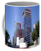 skyscraper construction in Downtown Los Angeles... Coffee Mug