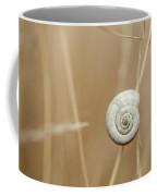 Snail On Autum Grass Blade Coffee Mug