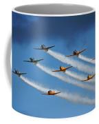 Snj  T-6 Texan And Canadian Harvard Aerobatic Team Coffee Mug