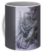 Snow Covered Trees In The North Carolina Mountains During Winter Coffee Mug