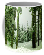 Snow In The Forest Coffee Mug