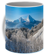 Snowy Church In The Bavarian Alps In Winter Coffee Mug