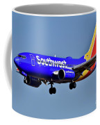 Southwest Airlines Airplane In Flight Coffee Mug