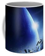 Space Junk Orbiting Earth Coffee Mug