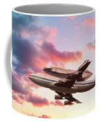 Space Shuttle Discovery Flies Off Into Retirement Coffee Mug