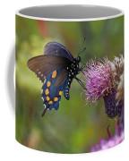 Spicebush Swallowtail On Bull Thistle Coffee Mug