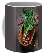 Spices On A Wooden Board Coffee Mug
