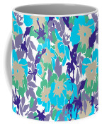 Spring Summer Flowers In Vintage Style. Seasons Floral Pattern Coffee Mug