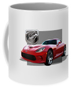 S R T  Viper With  3 D  Badge  Coffee Mug