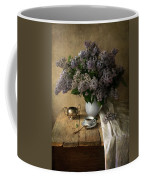 Still Life With Bouquet Of Fresh Lilacs Coffee Mug