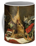 Still Life With Dead Game, A Monkey, A Parrot, And A Dog Coffee Mug