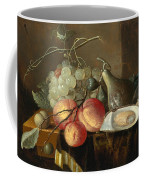 Still Life With Fruit And Oysters On A Table Coffee Mug