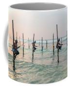 Stilt Fishermen - Sri Lanka Coffee Mug