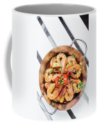 Stir Fry Prawns In Spicy Asian Pineapple And Herbs Sauce Coffee Mug