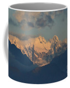 Stunning Landscape In The Italian Alps With A Cloudy Sky  Coffee Mug