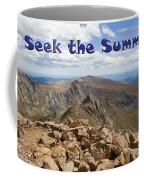 Summit Of Mount Bierstadt In The Arapahoe National Forest Coffee Mug