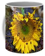 Sunflower Covered In Ladybugs Coffee Mug