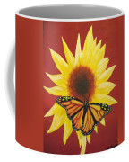 Sunflower Monarch Coffee Mug