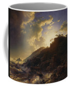 Sunset After A Storm On The Coast Of Sicily Coffee Mug
