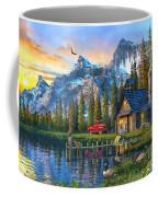 Sunset At Log Cabin Coffee Mug