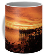 Sunset At The Pier Coffee Mug