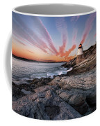 Sunset, Castle Hill Lighthouse  Coffee Mug