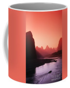 Sunset Over Li River Coffee Mug