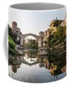 Sunset Over The Famous Mostar Bridge Coffee Mug