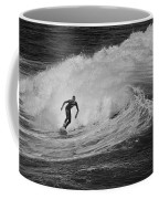 Surfing Off The Coast Of Montecito California Coffee Mug