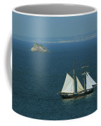 Tall Ship Passing Thatcher's Rock, Torbay Coffee Mug