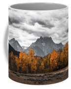 Teton Fall - Modern View Of Mt Moran In Grand Tetons Coffee Mug