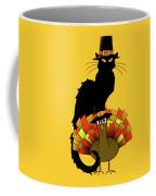 Thanksgiving Le Chat Noir With Turkey Pilgrim Coffee Mug