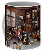 The Archdukes Albert And Isabella Visiting A Collector's Cabinet Coffee Mug