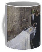 The Artist Attending The Mourning Of A Young Girl Coffee Mug
