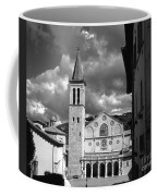 The Facade Of The Duomo With Mosaic And Eight Rose Windows And The Campanile Spoleto Umbria Italy Coffee Mug