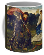 The Fight St George Kills The Dragon  Coffee Mug