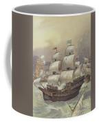 The Fleet Of Jean Ango Blocks The Tagus Coffee Mug
