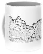 The Four Presidents Coffee Mug