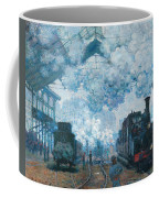 The Gare Saint-lazare Arrival Of A Train Coffee Mug