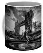 The Girl And The Dolphin - London Coffee Mug
